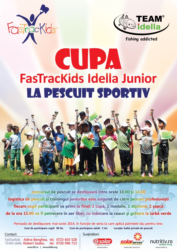 Children Fishing Cup - FasTracKids Idella Junior 2014