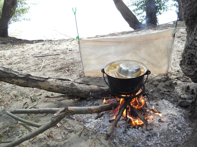 Cooked food - fishing on the Danube