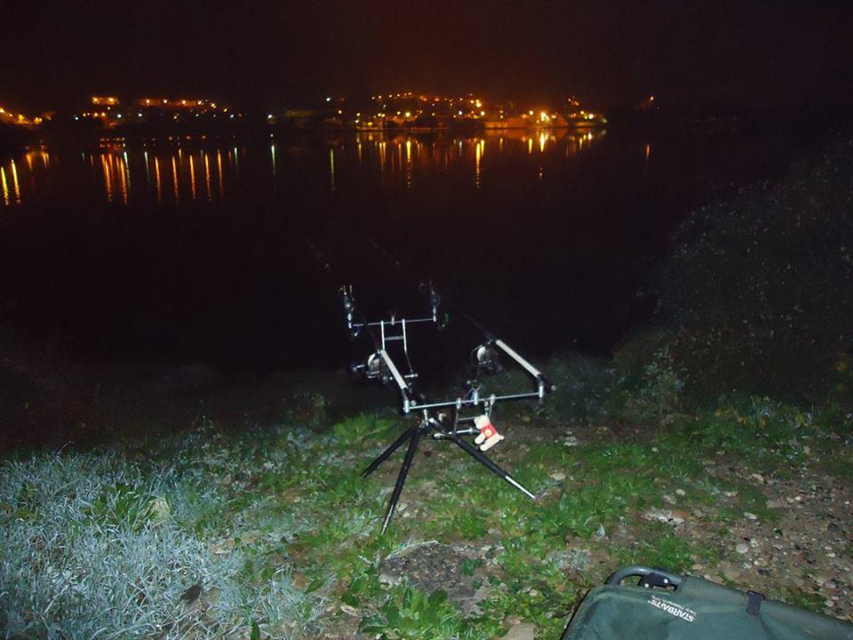 Fishing carp rod in Spain