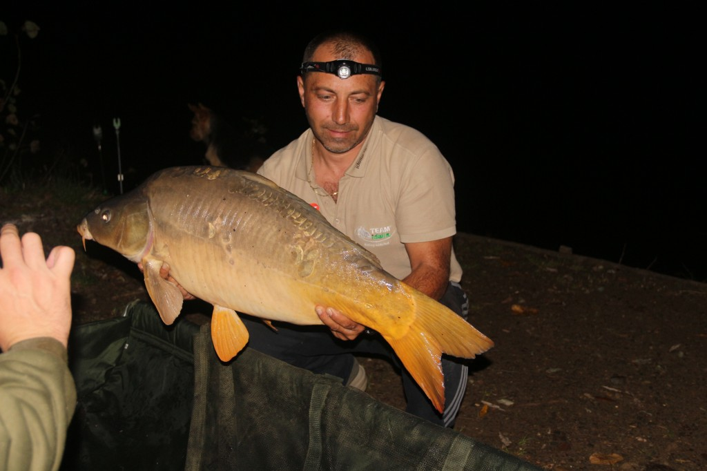 Capture carp fishing pleasure (Mircea Radulescu)
