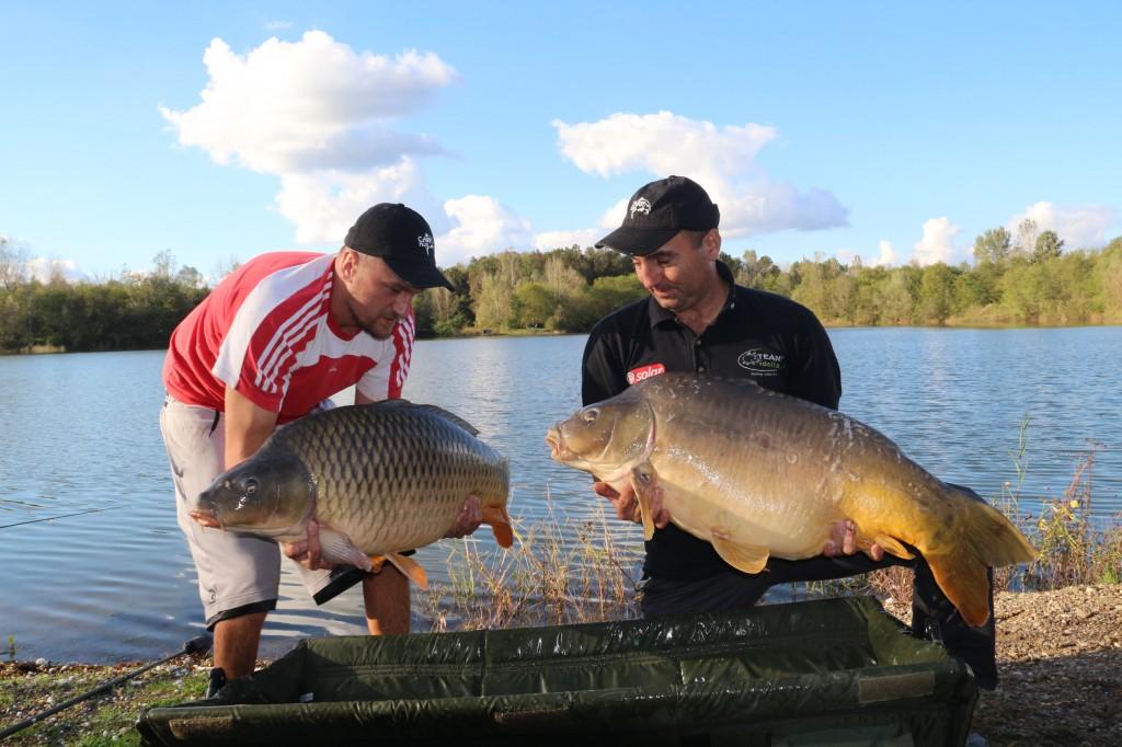 Augustin Barac and Cosmin Miclosoni (Team Idella) with two carp caught