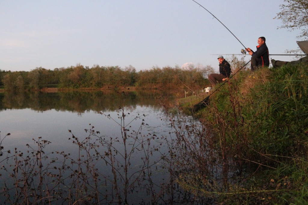 Augustin Barac și Cosmin Miclosoni (Team Idella) pescuind crap la undiță