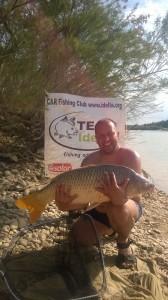 Pescuit pe Ebro în Spania - captură crap